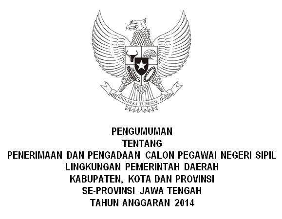 Pengumuman CPNS Jawa Tengah 2014