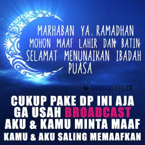DP BBM Lucu Ucapan Ramadhan Terbaru