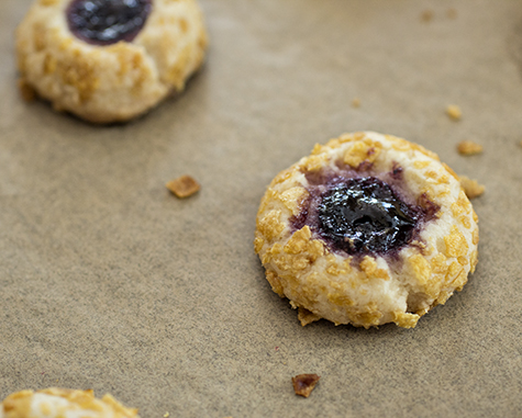 CornFlakes Thumbprint Cookies