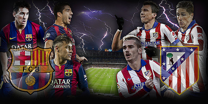 Hasil Barcelona VS Atletico Madrid Skor Liga Champions Tadi Malam