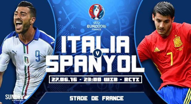 Prediksi Italia vs Spanyol Jadwal Euro 2016 Babak 16 Besar LIVE RCTI