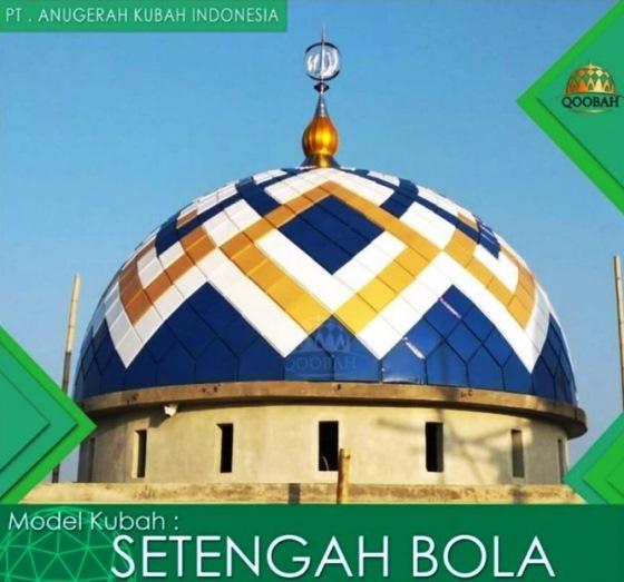 Model Kubah Masjid Setengah Bola