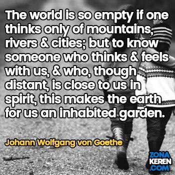 Gambar Caption Kata Bijak Bahasa Inggris Awal Bulan Persahabatan Friendship Quotes Arti Terjemahan Johann Wolfgang von Goethe