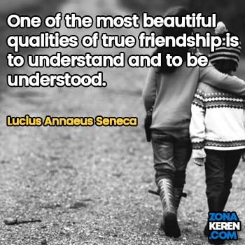 Gambar Caption Kata Bijak Bahasa Inggris Awal Bulan Persahabatan Friendship Quotes Arti Terjemahan Lucius Annaeus Seneca