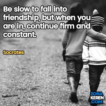 Gambar Caption Kata Bijak Bahasa Inggris Awal Bulan Persahabatan Friendship Quotes Arti Terjemahan Socrates