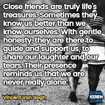Gambar Caption Kata Bijak Bahasa Inggris Awal Bulan Persahabatan Friendship Quotes Arti Terjemahan Vincent Van Gogh