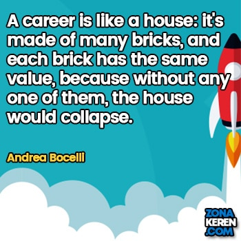 Gambar Caption Kata Bijak Karir Bahasa Inggris Career Quotes Arti Terjemahan Andrea Bocelli