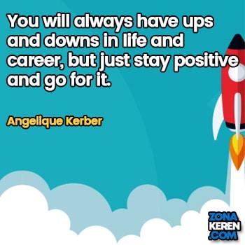 Gambar Caption Kata Bijak Karir Bahasa Inggris Career Quotes Arti Terjemahan Angelique Kerber