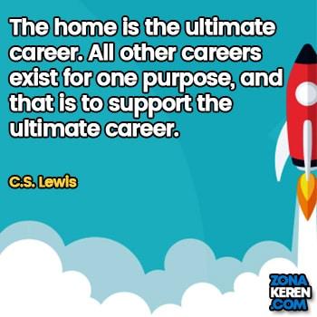 Gambar Caption Kata Bijak Karir Bahasa Inggris Career Quotes Arti Terjemahan CS Lewis