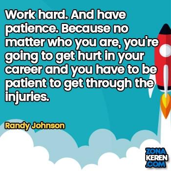 Gambar Caption Kata Bijak Karir Bahasa Inggris Career Quotes Arti Terjemahan Randy Johnson