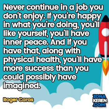 Gambar Caption Kata Bijak Karir Bahasa Inggris Career Quotes Arti Terjemahan Roger Caras