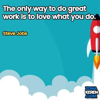 Gambar Caption Kata Bijak Karir Bahasa Inggris Career Quotes Arti Terjemahan Steve Jobs