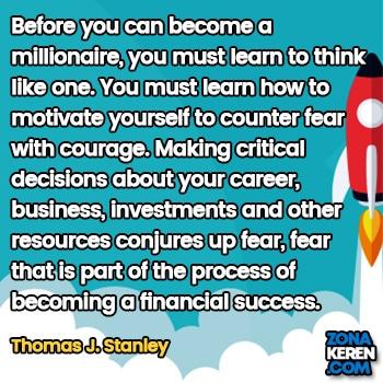 Gambar Caption Kata Bijak Karir Bahasa Inggris Career Quotes Arti Terjemahan Thomas J Stanley