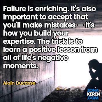 Gambar Caption Kata Bijak Kegagalan Bahasa Inggris Failure Quotes Arti Terjemahan Alain Ducasse