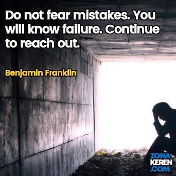 Gambar Caption Kata Bijak Kegagalan Bahasa Inggris Failure Quotes Arti Terjemahan Benjamin Franklin