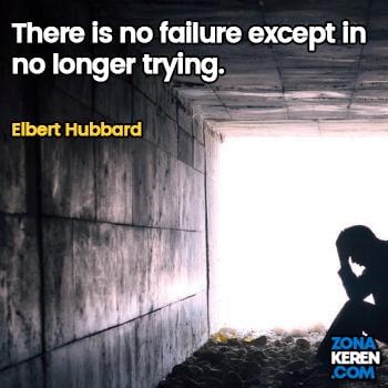 Gambar Caption Kata Bijak Kegagalan Bahasa Inggris Failure Quotes Arti Terjemahan Elbert Hubbard