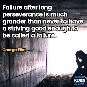 Gambar Caption Kata Bijak Kegagalan Bahasa Inggris Failure Quotes Arti Terjemahan George Eliot