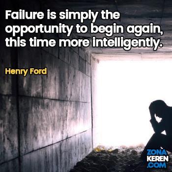 Gambar Caption Kata Bijak Kegagalan Bahasa Inggris Failure Quotes Arti Terjemahan Henry Ford