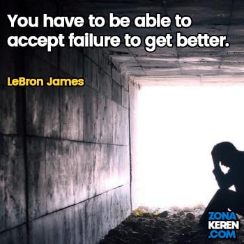 Gambar Caption Kata Bijak Kegagalan Bahasa Inggris Failure Quotes Arti Terjemahan LeBron James