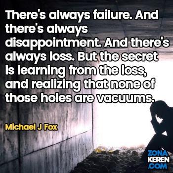 Gambar Caption Kata Bijak Kegagalan Bahasa Inggris Failure Quotes Arti Terjemahan Michael J Fox