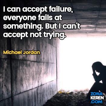 Gambar Caption Kata Bijak Kegagalan Bahasa Inggris Failure Quotes Arti Terjemahan Michael Jordan