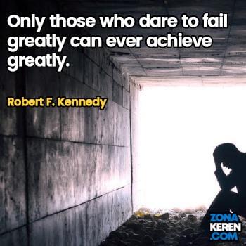 Gambar Caption Kata Bijak Kegagalan Bahasa Inggris Failure Quotes Arti Terjemahan Robert F Kennedy