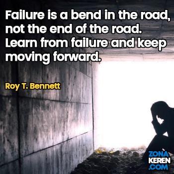 Gambar Caption Kata Bijak Kegagalan Bahasa Inggris Failure Quotes Arti Terjemahan Roy T Bennett