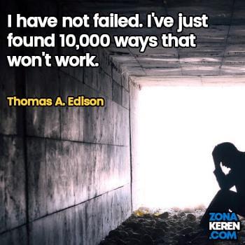 Gambar Caption Kata Bijak Kegagalan Bahasa Inggris Failure Quotes Arti Terjemahan Thomas A Edison