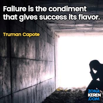 Gambar Caption Kata Bijak Kegagalan Bahasa Inggris Failure Quotes Arti Terjemahan Truman Capote