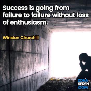 Gambar Caption Kata Bijak Kegagalan Bahasa Inggris Failure Quotes Arti Terjemahan Winston Churchill