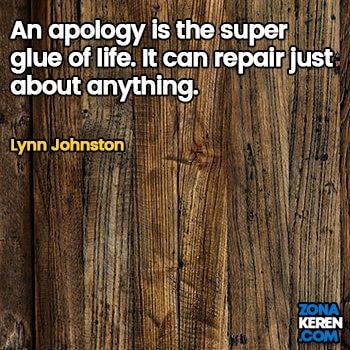 Gambar Caption Kata Bijak Minta Maaf Bahasa Inggris Apology Quotes Arti Terjemahan Lynn Johnston