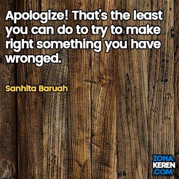 Gambar Caption Kata Bijak Minta Maaf Bahasa Inggris Apology Quotes Arti Terjemahan Sanhita Baruah